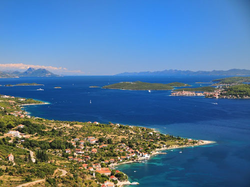 Viganj is located close to the town of Korcula and island Mljet